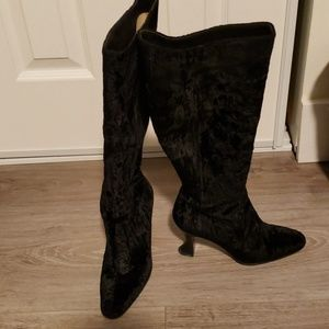 suede knee length boots